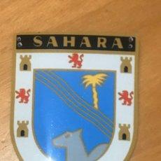 Coleccionismo: CHAPA OJE DISTINTIVO PROVINCIAL SAHARA EN ALUMINIO. Lote 195079306