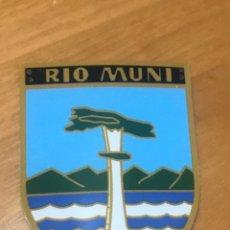 Coleccionismo: CHAPA OJE DISTINTIVO PROVINCIAL RIO MUNI EN ALUMINIO. Lote 195080725