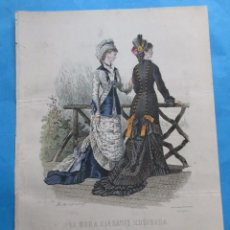 Coleccionismo: LÁMINA DE ´LA MODA ELEGANTE ILUSTRADA´. CIRCA 1870. 36,5 X 26,5 CM. Nº 1579. Lote 195084548