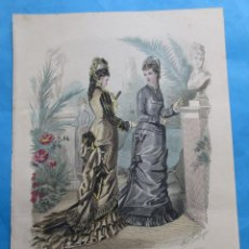 Coleccionismo: LÁMINA DE ´LA MODA ELEGANTE ILUSTRADA´. CIRCA 1870. 36,5 X 26,5 CM. Nº 1576. Lote 195084668
