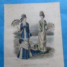 Coleccionismo: LÁMINA DE ´LA MODA ELEGANTE ILUSTRADA´. CIRCA 1870. 36,5 X 26,5 CM. Nº 1574. Lote 195084833