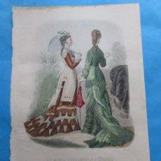 Coleccionismo: LÁMINA DE ´LA MODA ELEGANTE ILUSTRADA´. CIRCA 1870. 36,5 X 26,5 CM. Nº 1574. Lote 195084871