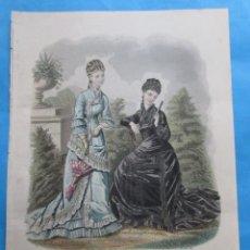 Coleccionismo: LÁMINA DE ´LA MODE ILUSTRÉE´. 1877, Nº 33. 36,5 X 26,5 CM.. Lote 195084982