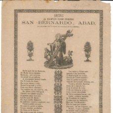Coleccionismo: GOZOS.- SAN BERNARDO, ABAD. IMPRENTA HEREDEROS V. PLA- BARCELONA . Lote 195108115