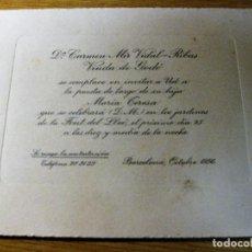 Coleccionismo: TARJETA INVITACION A UNA PUESTA DE LARGO AÑO 1956 . VIUDA DE GODO . Lote 195148811