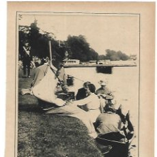 Coleccionismo: AÑO 1915 RECORTE PRENSA DEPORTES TAMESIS GARRICK LAWN FESTIVAL A BENEFICIO HERIDOS GUERRA. Lote 195152770
