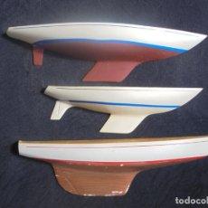 Coleccionismo: LOTE 3 MUESTRAS BARCOS DE MADERA. Lote 195167891