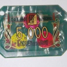 Coleccionismo: BONITA FICHA CASINO ENGHIEN LES BAINS 5000. Lote 195168101