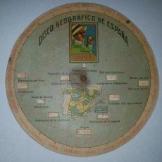 Coleccionismo: DISCO GEOGRÁFICO DE ESPAÑA PAPEL DE FUMAR BAMBÚ. ALCOY ALICANTE. Lote 195170286