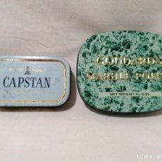 Coleccionismo: LOTE DE DOS CAJITAS METÁLICAS DE TABACO. Lote 195180713