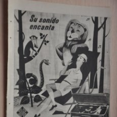Coleccionismo: HOJA REVISTA ANTIGUA PUBLICIDAD TELEFUNKEN. Lote 195183572