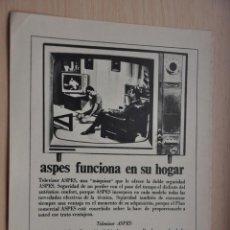 Coleccionismo: HOJA REVISTA ANTIGUA PUBLICIDAD ASPES. Lote 195183721