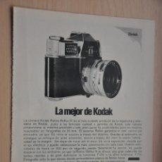 Coleccionismo: HOJA REVISTA ANTIGUA PUBLICIDAD KODAK. Lote 195183753