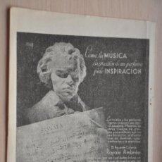 Coleccionismo: HOJA REVISTA ANTIGUA PUBLICIDAD ROYALE AMBREE. Lote 195183791