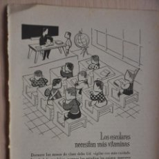 Coleccionismo: HOJA REVISTA ANTIGUA PUBLICIDAD NESTROVIT. Lote 195184101