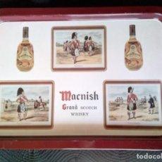 Coleccionismo: BANDEJA MÉTALICA WHISKY MACNISH. Lote 195197152