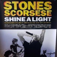 Coleccionismo: CARTEL THE ROLLING STONES - SCORSESE - SHINE A LIGHT 98CM X 68CM. Lote 195216722