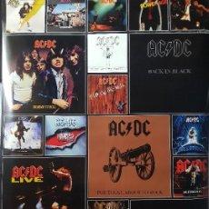 Coleccionismo: POSTER DE AC/DC: DISCOGRAFÍA 90CM X 60CM. Lote 195217701