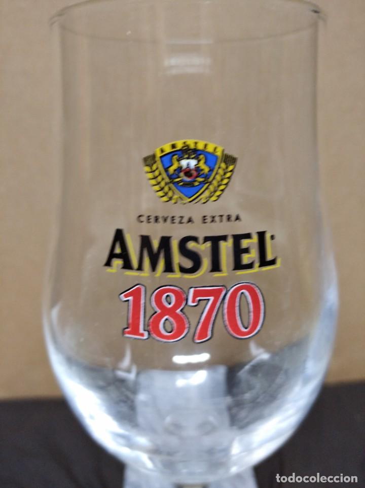 Coleccionismo: Copa cerveza extra amstel 1870. - Foto 2 - 195232267