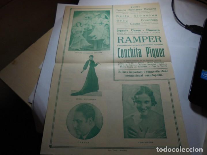 Coleccionismo: magnifico programa teatre conservatori de manresa galas 1936 - Foto 2 - 195238963