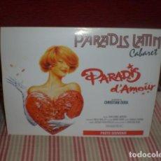 Coleccionismo: CARTEL SOUVENIR CABARET PARADIS LATIN. Lote 195239067