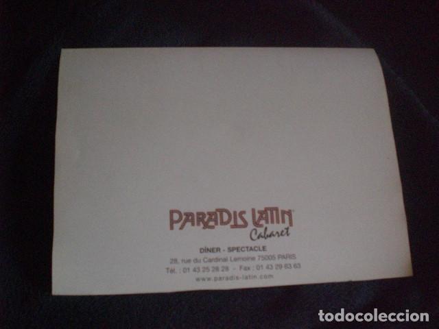 Coleccionismo: cartel souvenir cabaret Paradis Latin - Foto 2 - 195239067