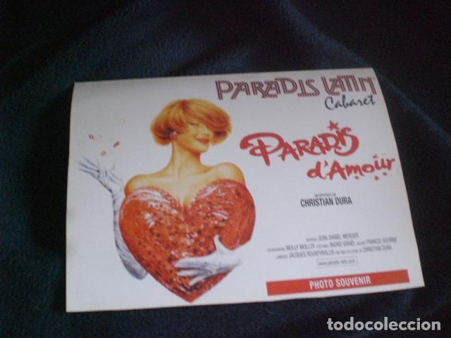 Coleccionismo: cartel souvenir cabaret Paradis Latin - Foto 3 - 195239067