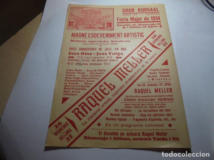 Coleccionismo: magnifico programa teatre conservatori de manresa festa major de 1934 - Foto 2 - 195239326