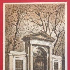 Coleccionismo: MADRID, LAMINA PORTADA JARDIN BOTANICO, SANZ DE POYO, SERIE 17. Lote 195268878