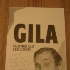 Coleccionismo: PROGRAMA DE MANO. DEJENME QUE LES CUENTE. CON AUTOGRAFO DE GILA. Lote 195270901