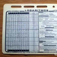 Coleccionismo: TARJETA LOGARITMOS AÑOS 70 - CIENCIA Y TÉCNICAS REUNIDAS CYT - BZB 99. Lote 195271467