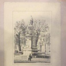 Coleccionismo: LAMINA FUENTE DE APOLO. J. CEBRIAN. J. DONON LITOGRAFIO MADRID. Lote 195274282