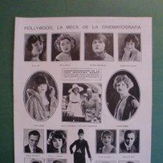 Coleccionismo: HOLLYWOOD CHARLES CHAPLIN CHARLOT - MARY PICKFORD DOUGLAS FAIRBANKS POLA NEGRI - 10/12/1924. Lote 195333556