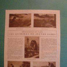 Coleccionismo: LA QUIMERA DE NOTRE DAME - JABON HENO DE PRAVIA - 5/3/1930. Lote 195333951