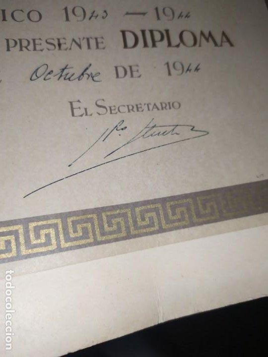 Coleccionismo: GRAN TÍTULO ESCUELA DE ARTE Y OFICIOS ARTÍSTICOS DE VALENCIA 1944 CARTÓN - Foto 2 - 195341091