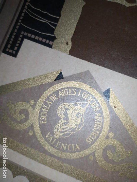 Coleccionismo: GRAN TÍTULO ESCUELA DE ARTE Y OFICIOS ARTÍSTICOS DE VALENCIA 1944 CARTÓN - Foto 21 - 195341091