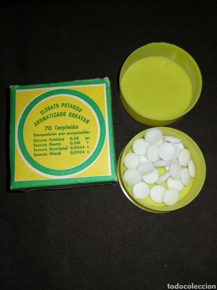 ANTIGUO MEDICAMENTO ORRAVAN, CON COMPRIMIDOS, CLORATO POTÁSICO. (Coleccionismo - Varios)