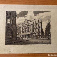 Coleccionismo: GRABADO 'GRAN TEATRO DEL LICEO'. SIGLO XX.. Lote 195356673