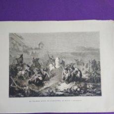 Coleccionismo: LAMINA DE EL PRIMER SITIO DE ZARAGOZA ( FERRAND Y FISCTERMANS). Lote 195370355