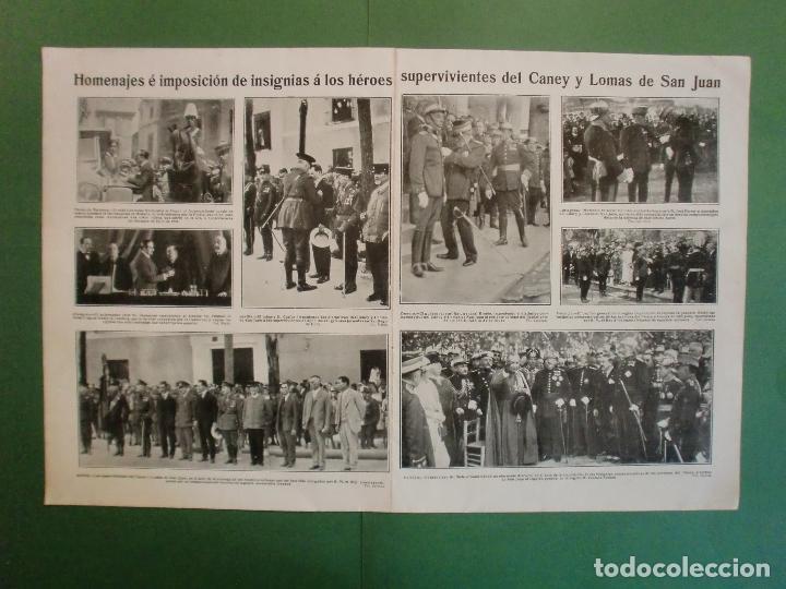 SUPERVIVIENTES DEL CANEY Y LOMAS DE SAN JUAN EN ZAMORA CARTAGENA VALENCIA PALMA - 9/7/1929 (Coleccionismo - Laminas, Programas y Otros Documentos)