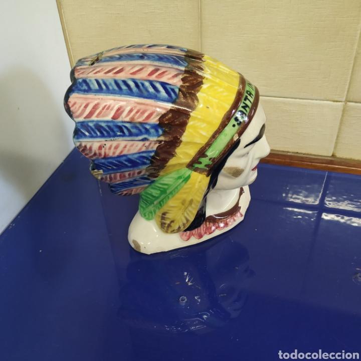 Coleccionismo: Original hucha domund indio americano - Foto 2 - 195370571