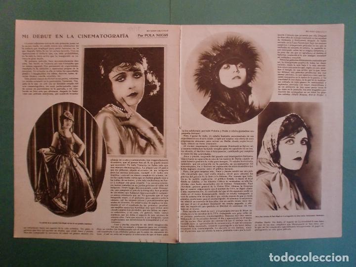 MI DEBUT EN LA CINEMATOGRAFIA POR POLA NEGRI - 18/7/1928 (Coleccionismo - Laminas, Programas y Otros Documentos)