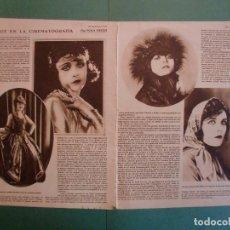 Coleccionismo: MI DEBUT EN LA CINEMATOGRAFIA POR POLA NEGRI - 18/7/1928. Lote 195370660