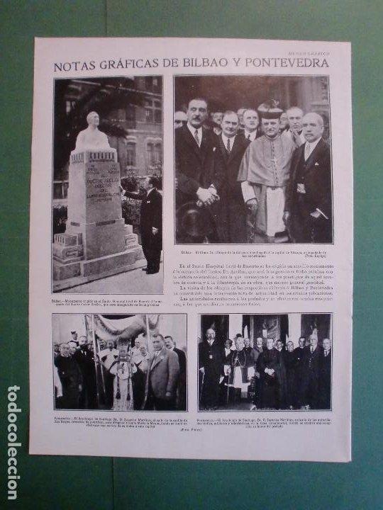Coleccionismo: EL ACTUAL VERANEO EN SANTANDER - NOTAS DE BILBAO Y PONTEVEDRA - 18/7/1928 - Foto 2 - 195378422