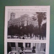 Coleccionismo: INAUGURACION MINISTERIO DE MARINA - VERANEO EN SAN SEBASTIAN - 18/7/1928. Lote 195378803