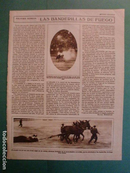 LAS BANDERILLAS DE FUEGO EN LAS FIESTAS TAURINAS S.P.A. - 18/7/1928 (Coleccionismo - Laminas, Programas y Otros Documentos)