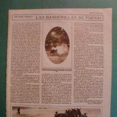 Coleccionismo: LAS BANDERILLAS DE FUEGO EN LAS FIESTAS TAURINAS S.P.A. - 18/7/1928. Lote 195379305
