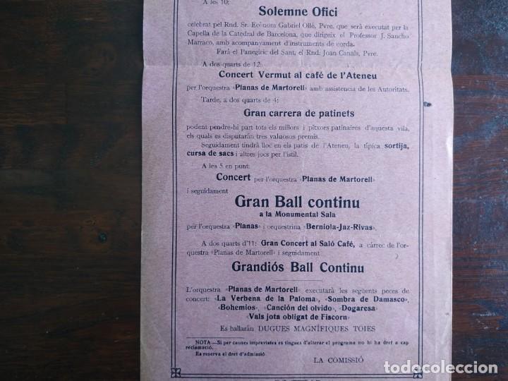 Coleccionismo: Festa de Sant Antoni de Pàdua al Ateneu Santboia de Sant Boi de Llobregat 1931 VII centenari de mort - Foto 3 - 195392740