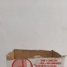 Coleccionismo: CAJA CABEZAS CHICLES BOOMER IMPOSIBLE. Lote 195395150