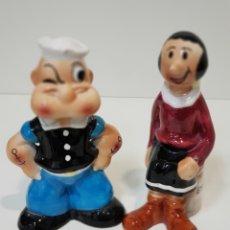 Coleccionismo: 2 HUCHAS ANTIGUAS DE POPEYE EL MARINO Y OLIVIA. Lote 195398837